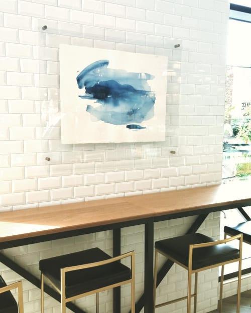 Paintings by Amanda Norman seen at Caviar & Bananas - Gourmet Maket & Cafe, Nashville - Quench