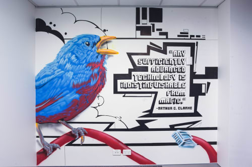 Murals by Blackbook Ink seen at Sydney, Sydney - Lawyers - Feature Walls