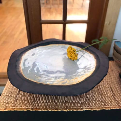 Tableware by BlackTree Studio Pottery & The Potter's Wife seen at Private Residence, New Carlisle - Rimmed Platter