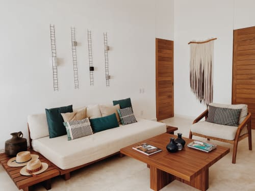 Wall Hangings by Taiana Giefer seen at Private Residence, Costa Careyes - Seed No.040: Wood Nymph