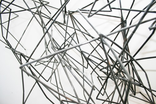 Sculptures by Pryor Callaway Art and Design seen at Waterfall Mansion and Gallery, New York - Synapse Straw Installation