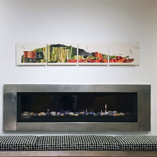 Paintings by James Aarons seen at Private Residence, San Francisco - Ocotillo Quartet