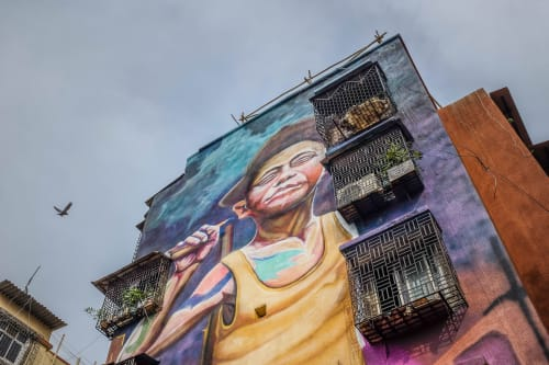 Street Murals by avi_art_studio seen at Dharavi, Mumbai - The Rising Star