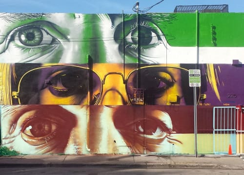 Street Murals by CP1 seen at Wynwood, Miami - GAB Studio