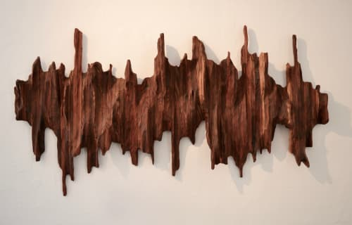 Sculptures by Lutz Hornischer seen at Berkeley, Berkeley - Wood Art: Mountain Ridge II