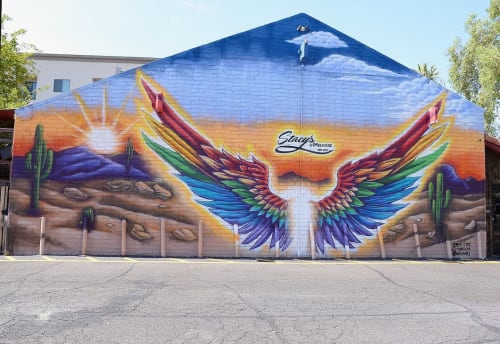 Murals by G. Cites Art seen at 4343 N 7th Ave, Phoenix - Stacy's Mural