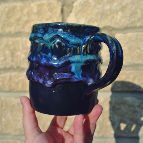 Cups by Silver Spot Ceramics seen at Private Residence, Stroud - Galaxy Mug