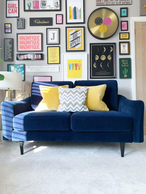 Couches & Sofas by Snug seen at Private Residence, London - The Rebel 2-Seater Sofa in Navy Velvet