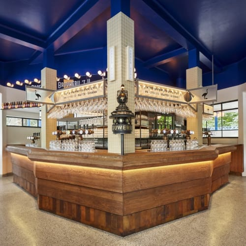 Interior Design by Studio Modijefsky seen at The Blue Tea House, Amsterdam - Interior Design