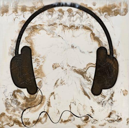 Paintings by Priyanka Mac seen at Private Residence, Los Angeles - Fluid Noise
