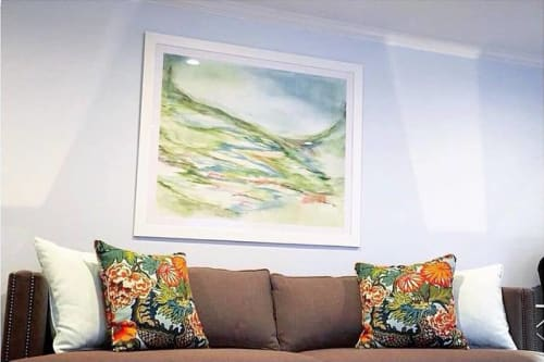 Paintings by Lesley Frenz at Private Residence, Wellesley - Watercolor commission