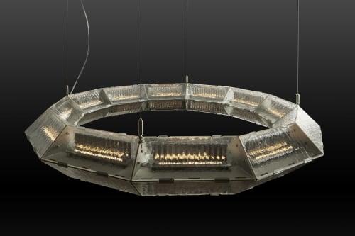Chandeliers by McEwen Lighting Studio seen at De Sousa Hughes LLC, San Francisco - Prism Suspension