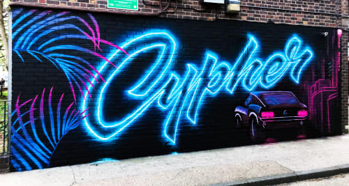 Street Murals by Candie seen at Camden Town, London - Cypher