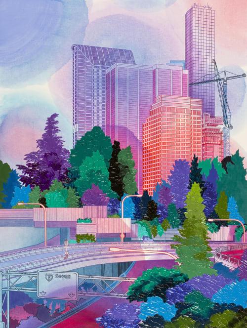Paintings by Elizabeth Gahan seen at Linda Hodges Gallery, Seattle - Downtown Viewpoint