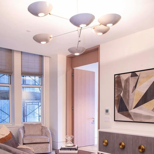 Lighting by Blueprint Lighting NYC seen at Private Residence, New York - 'Counterbalance' Fixture