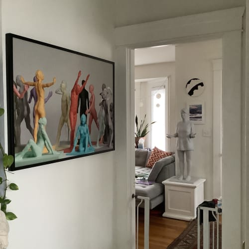 Photography by Eoin Burke seen at Private Residence, New Haven - Two artworks in a private home.