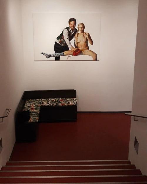 Paintings by Julia Faber seen at Kosmos Theater, Wien - Methode 3/5