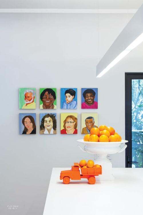 Paintings by Rudy Shepherd seen at Los Feliz House Painting, Los Angeles - Portrait Paintings
