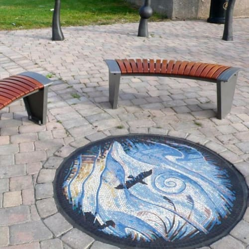 Public Mosaics by Gary Drostle – Drostle Public Arts Ltd seen at Weston-super-Mare, Weston-super-Mare - Reflections in the Rhynes