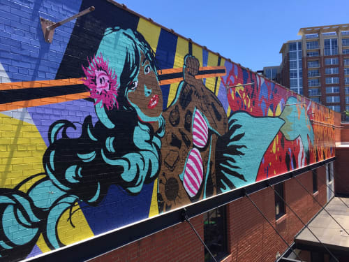 Murals by Sharon Dowell Art, LLC seen at Design Center of the Carolinas, Charlotte - Mermaid Mural