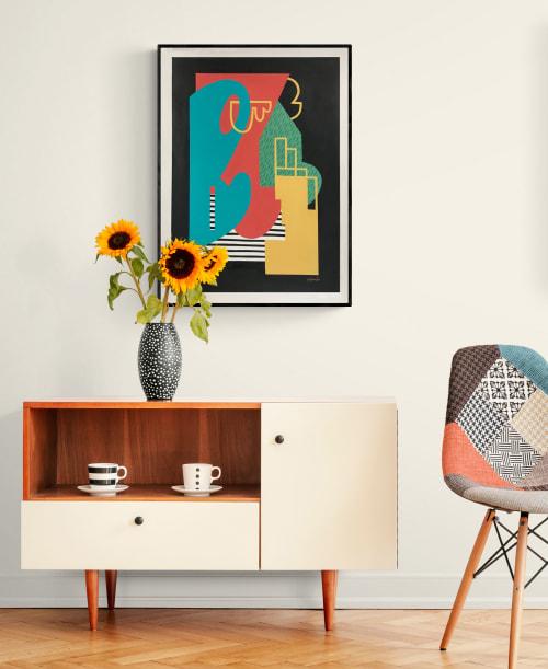 Paintings by Gwen Gunter seen at Creator's Studio, Atlanta - Rear View painting