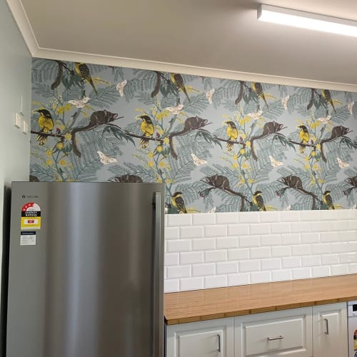 Wallpaper by Tamara Design Co seen at Mudgee, Mudgee - Leadbeater Forrest