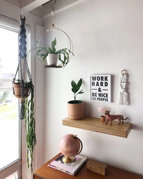 Wall Hangings by BT Design Co. seen at Work Hard Plant Hard, Encinitas - Work Hard And Be Nice To People