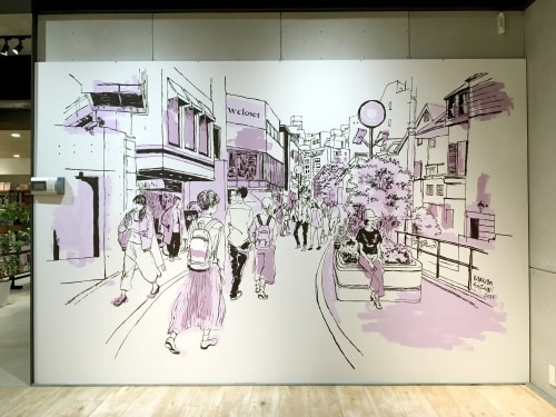 Murals by Mariya Suzuki seen at w closet WEARS INC. 神宮前店, Shibuya City - W Closet