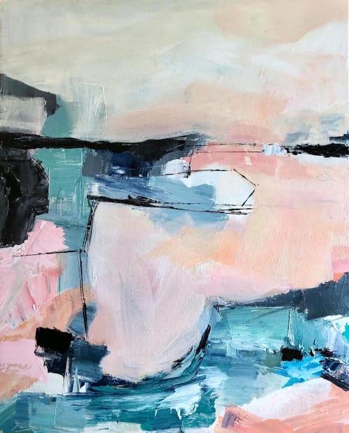 Paintings by Melanie Biehle seen at Cura Co, Seattle - Integrate