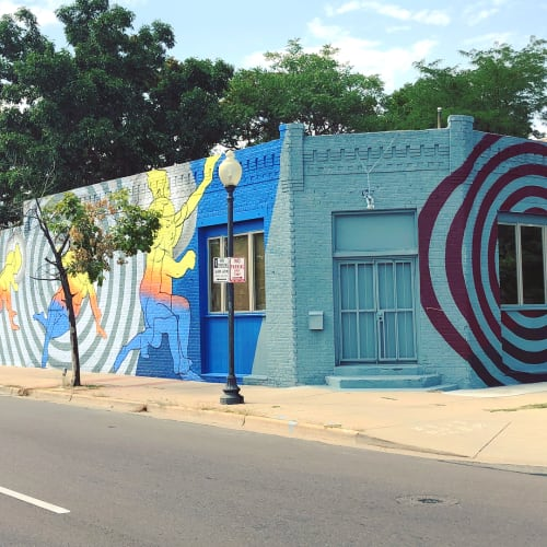 Street Murals by Bobby MaGee Lopez at Highlands Sport and Spine, Denver - Transformation