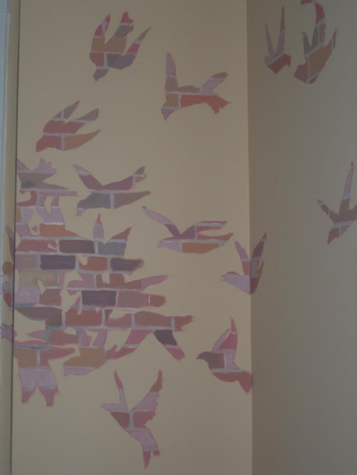 Murals by Andres San Millan seen at Private Residence, Cambridge - Indoor Mural