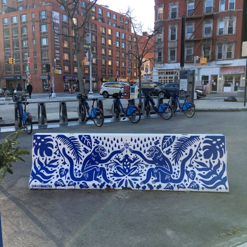 Street Murals by Carla Torres seen at Lower East Side, New York - Do Not Mess With My Chinas