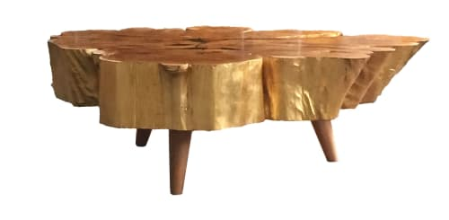 Tables by Madera Furniture Company / Carlos Taylor-Swanson seen at Madera Furniture Company, Tacoma - Golden Cedar Slice
