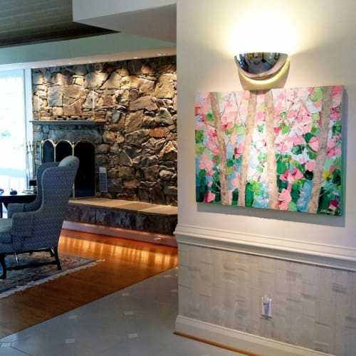 Paintings by Ann Marie Coolick Fine Art at Private Residence, Arlington - Dancing Cherry Trees
