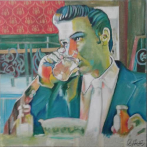 Paintings by Cheryl Hicks seen at The Monticello Hotel, Longview, WA, Longview - Elvis Sighting
