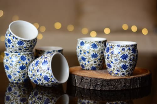 Cups by Classy Tulip seen at Private Residence, Noida - Ceramic Stoneware Tea Kullhad