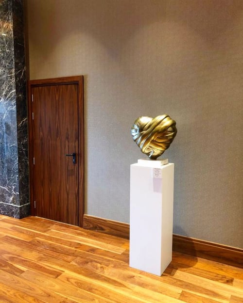 Sculptures by Stathis Alexopoulos seen at Makedonia Palace Hotel, Thessaloniki - Heart Sculpture