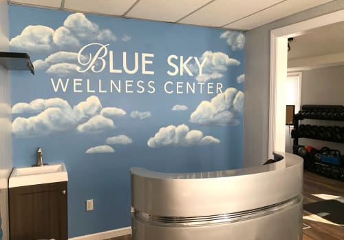 Murals by Toni Miraldi / Mural Envy - Blue Sky Wellness Center Mural