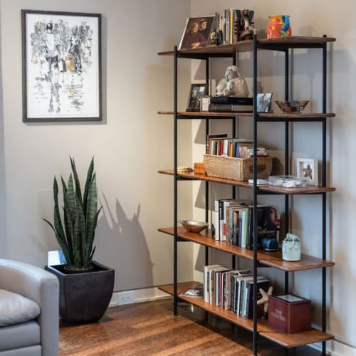 Furniture by Greenington seen at Private Residence, Richmond - Shelving Unit