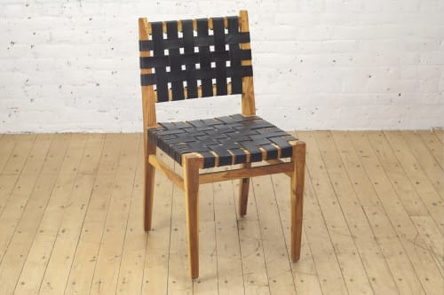 Grasshopper Dining Chair - Black Rubber | Chairs by From the Source