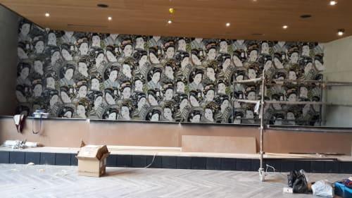Murals by Peacock Art & Design seen at Design Quarter, Sandton - Koi Restaurant, Design Quarter