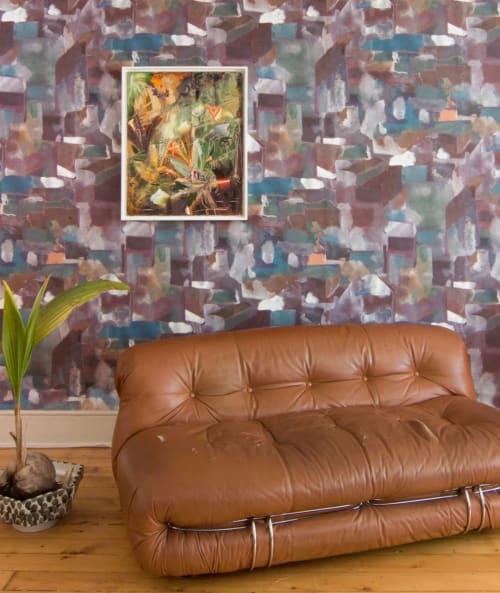 Wallpaper by Eskayel seen at Private Residence, Brooklyn - Medina- Tesoro