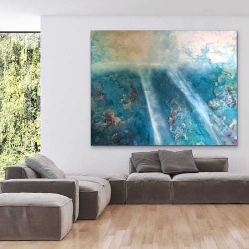 Paintings by Amanda M Moody seen at Private Residence, Redondo Beach - crystal blue persuasion