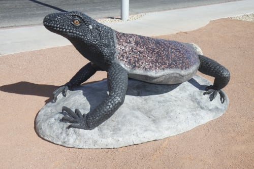 Public Mosaics by Faducci seen at Route 66 ARizona - Arizona Chuckwalla