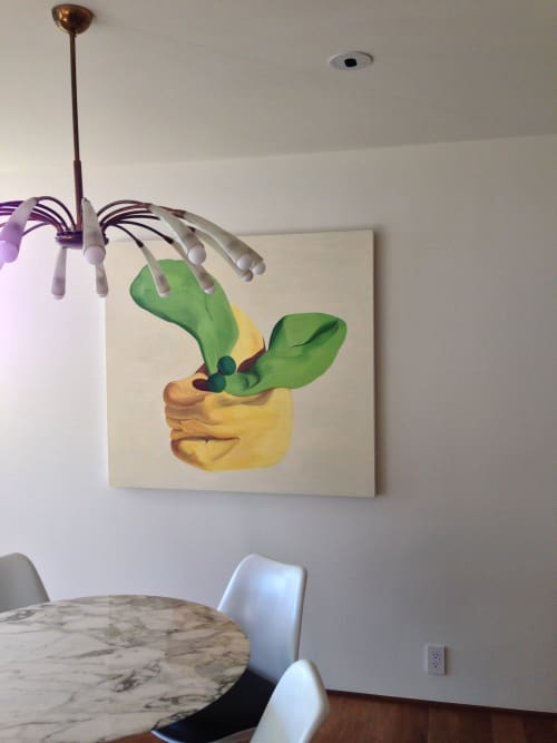 Paintings by Irina Alimanestianu - painter at Private Residence, Los Angeles - Yellow Flower