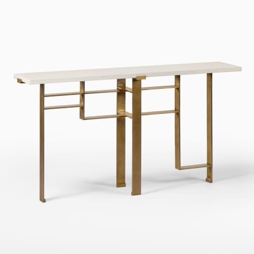 Tables by Chai Ming Studios seen at Atelier Gary Lee, Chicago - Tivoli Console