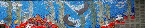 Public Mosaics by New World Mosaics seen at Montclair Elementary School, Oakland - Otters Delight