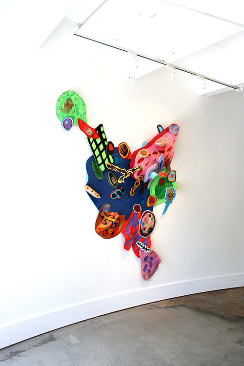 Wall Hangings by Leisa Rich at Barbara Archer Gallery, Atlanta - Gobsmacked