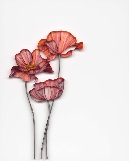 Wall Hangings by JUDiTH+ROLFE seen at Creator's Studio, Copenhagen - Forever Flower 01 (Poppies)