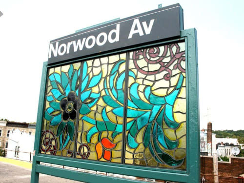Public Mosaics by Margaret Lanzetta seen at 205 Street Station, The Bronx - Culture Swirl